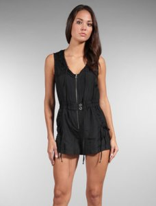 Nanette Lepore Three Grace Romper in Black